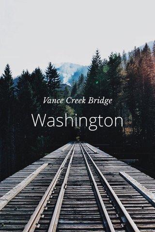 Washington Vance Creek Bridge