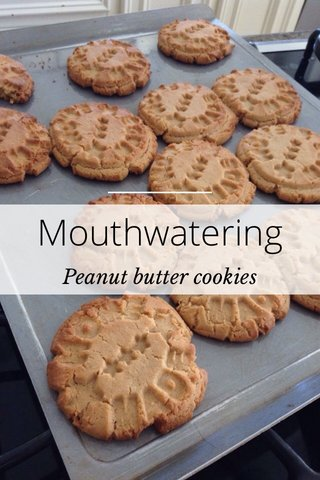 Mouthwatering Peanut butter cookies
