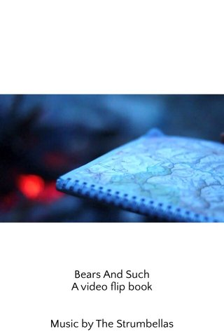 Bears And Such A video flip book Music by The Strumbellas