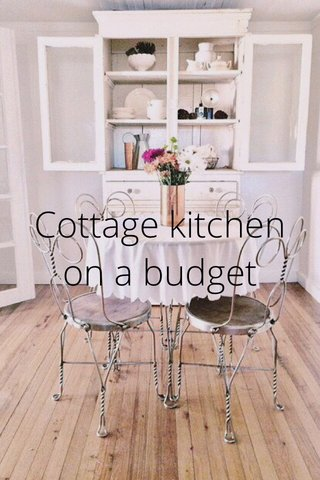 Cottage kitchen on a budget