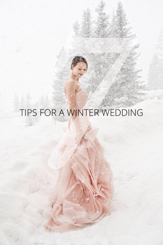 7 TIPS FOR A WINTER WEDDING