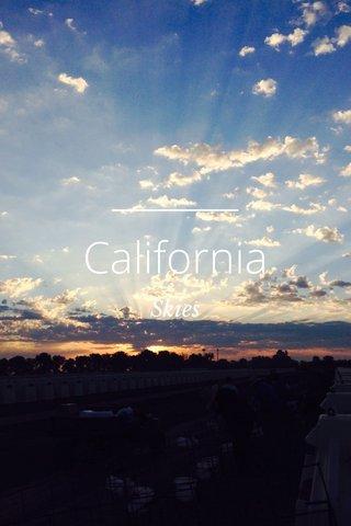 California Skies