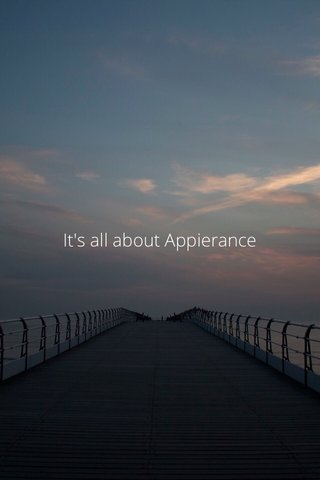 It's all about Appierance