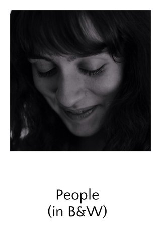 People (in B&W)