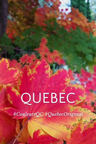 QUEBEC #CouleursQC #QuebecOriginal