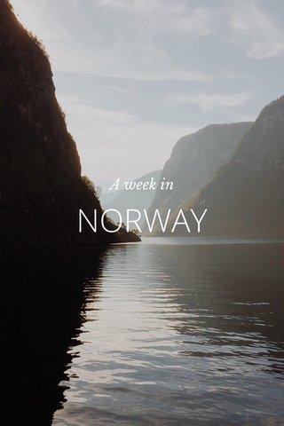 NORWAY A week in
