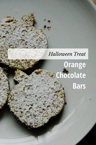 Orange Chocolate Bars Halloween Treat