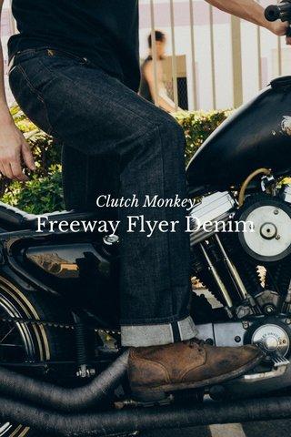 Freeway Flyer Denim Clutch Monkey