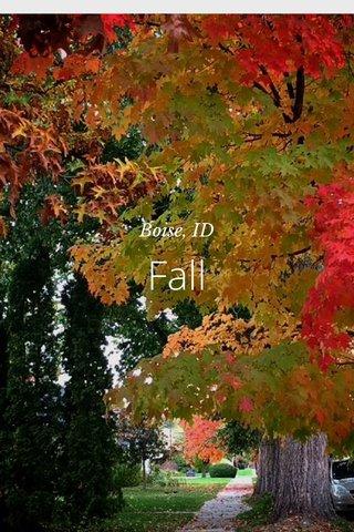 Fall Boise, ID
