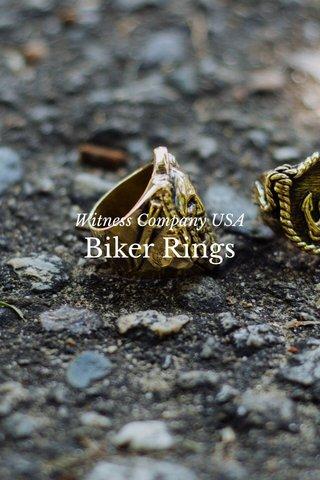 Biker Rings Witness Company USA