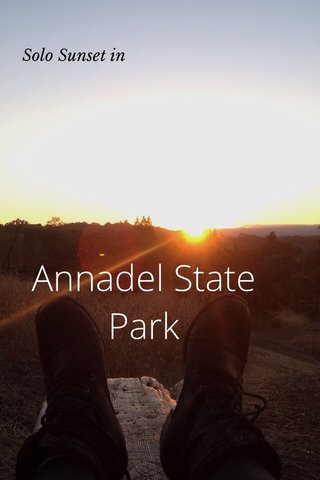 Annadel State Park Solo Sunset in