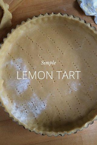LEMON TART Simple