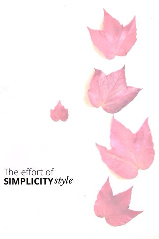 style The effort of SIMPLICITY