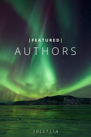 AUTHORS 10|27|14 |FEATURED|