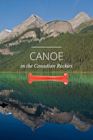 CANOE in the Canadian Rockies