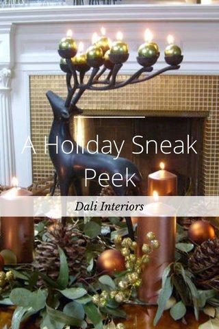 A Holiday Sneak Peek Dali Interiors