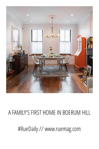A FAMILY'S FIRST HOME IN BOERUM HILL #RueDaily // www.ruemag.com
