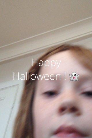 Happy Halloween ! 👻