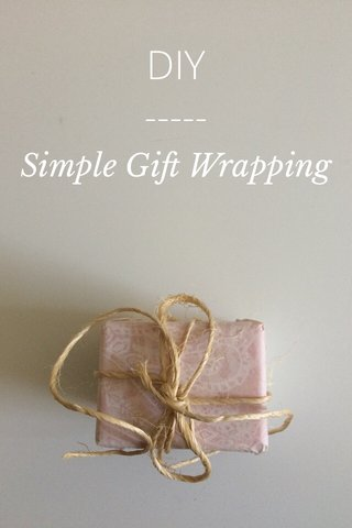 DIY Simple Gift Wrapping