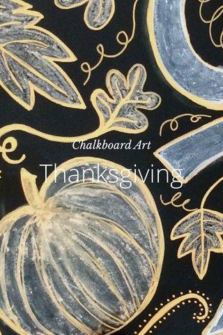 Thanksgiving Chalkboard Art