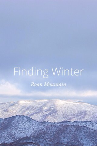 Finding Winter Roan Mountain