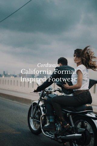 California Formal Inspired Footwear Cordwain