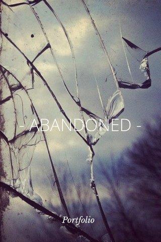 - ABANDONED - Portfolio