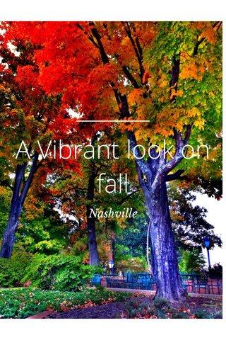 A Vibrant look on fall Nashville