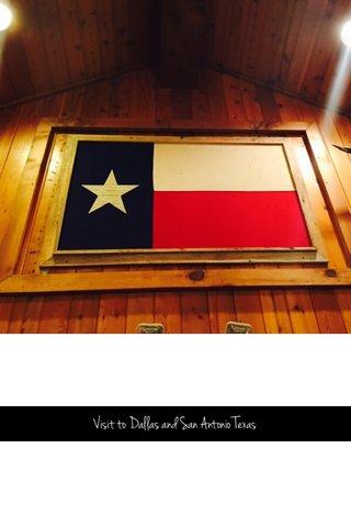 Joshua Tree Visit to Dallas and San Antonio Texas