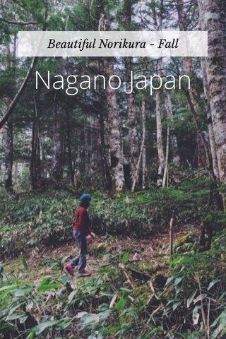 Nagano Japan Beautiful Norikura - Fall