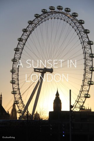 A SUNSET IN LONDON