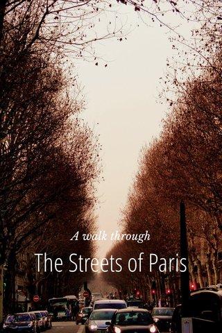 The Streets of Paris A walk through