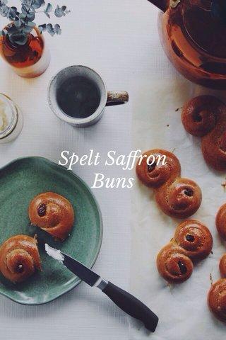 Spelt Saffron Buns