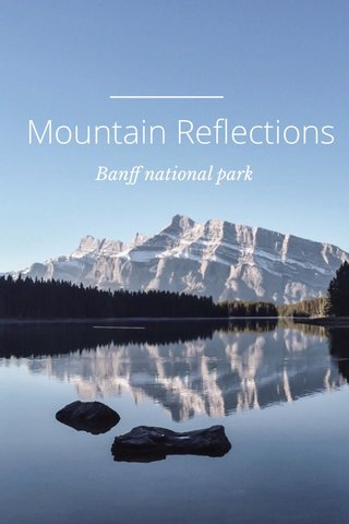 Mountain Reflections Banff national park