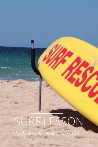 SURF LESSON Manly Beach, NSW, Australia