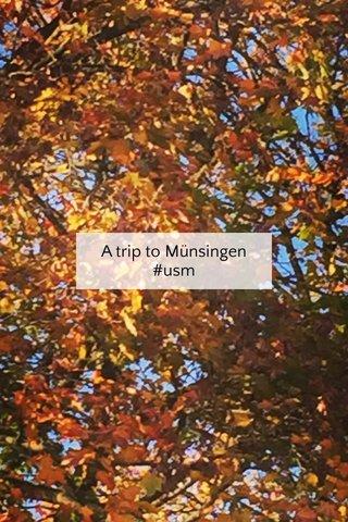 A trip to Münsingen #usm
