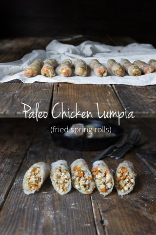 Paleo Chicken Lumpia (fried spring rolls)
