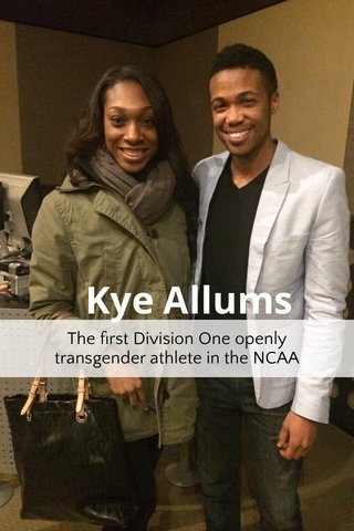 Kye Allums The first Division One openly transgender athlete in the NCAA