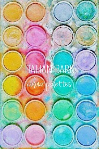 colour palettes ITALIAN BARK