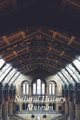 Natural History Museum London, United Kingdom
