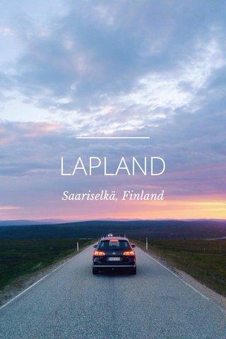 LAPLAND Saariselkä, Finland