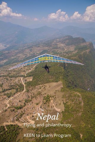 Nepal Flying and philanthropy KEEN to Learn Program