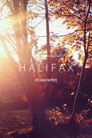 HALIFAX in autumn