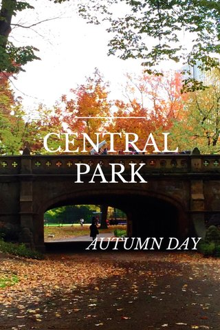 CENTRAL PARK AUTUMN DAY