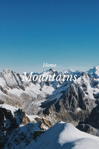 Mountains Home