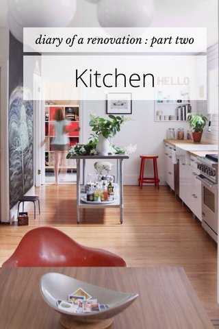 Kitchen diary of a renovation : part two
