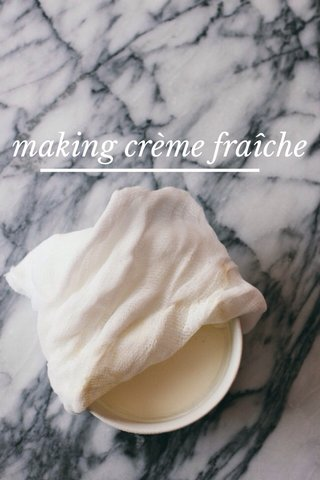 making crème fraîche