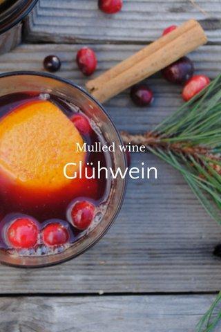 Glühwein Mulled wine