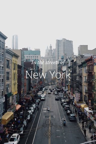 New York In the streets of