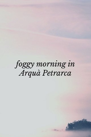 foggy morning in Arquà Petrarca